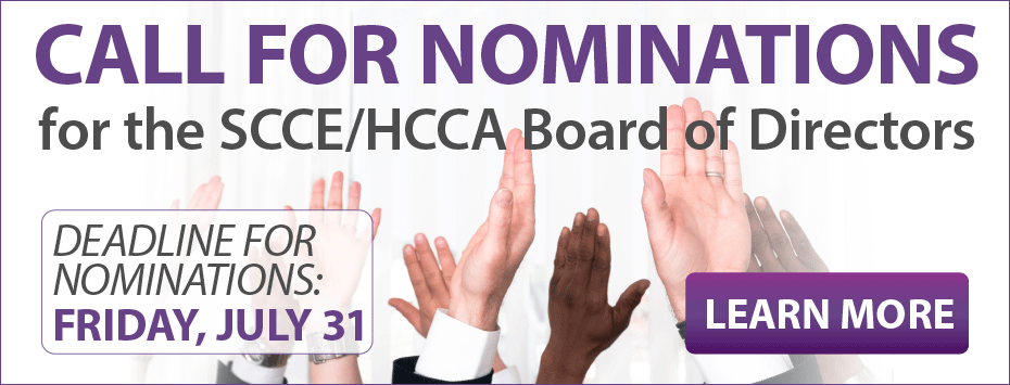 Call for SCCE/HCCA board of directors nominations