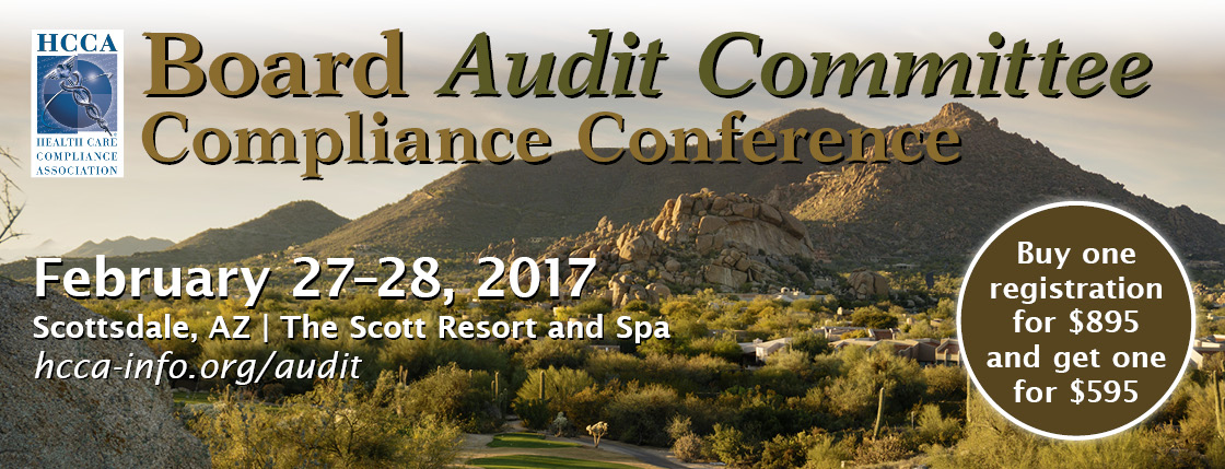 Check out HCCA's Board Audit Committee Compliance Conference