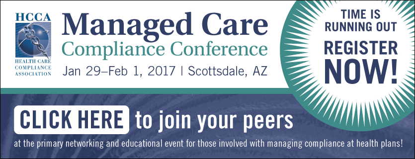 Register Now for Managed Care Compliance Conference, January 29 to February 1