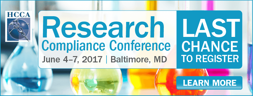 Register now for the Research Compliance Conference
