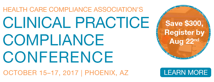 Attend the Clinical Practice Compliance Conference