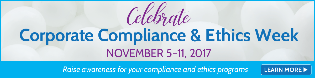 Corporate compliance and ethics week prodcuts