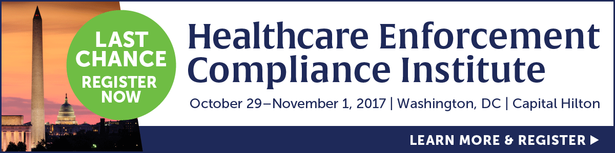 Register for the Healthcare Enforcement Compliance Institute