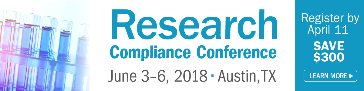 Research Compliance Conference, June 3-6