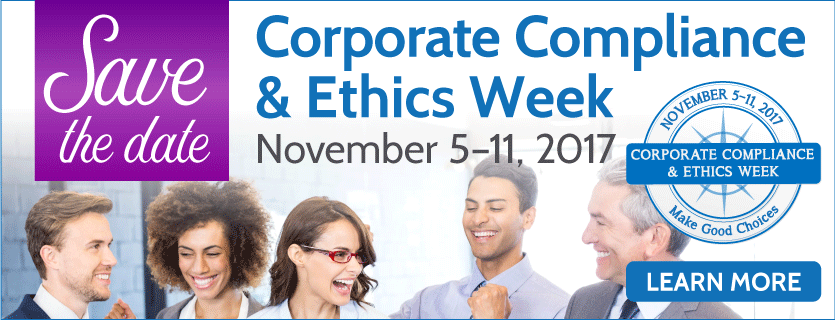 Corporate Compliance & Ethics Week banner