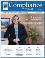 06/17 Compliance Today cover