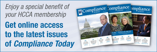 Join HCCA and see our latest Compliance Today issue