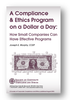 A Compliance & Ethics Program on a Dollar a Day cover