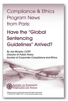 Compliance & Ethics Program News from Paris